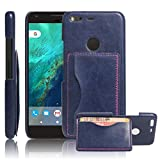 Excelsior Premium Leather Card Holder Back Cover Case for Google Pixel XL (5.5 Inch) - Blue