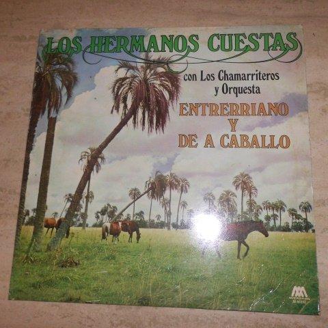 Los Hermanos Cuestas Con Los Chamarriteros Y Orquesta, Entrerriano Y De a Caballo Lp Vinyl by MICROFON