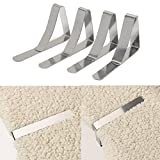 Winnerbe 4pcs Stainless Steel Tablecloth Clips Table Cover Holder Wedding Party Picnic Clamp