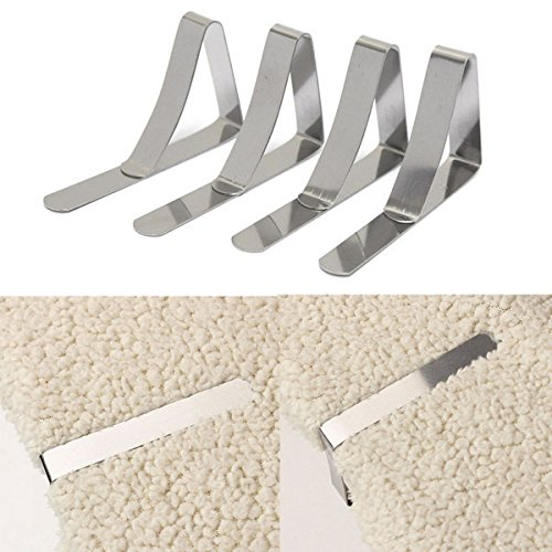 Bazaar 4pcs Stainless Steel Table Cloth Clips Table Cover...