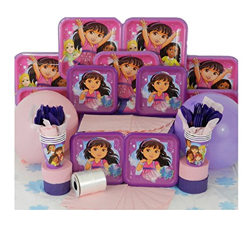Dora and Friends 144 Piece Birthday Party Pack for 16 Guests