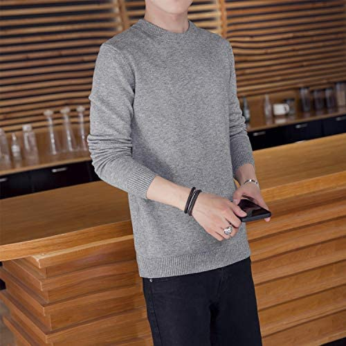セーターメンズ ビジネス ニット 大きいサイズ クルーネッ 白 青 グレー 長袖 無地 カジュアル カラー展開 4XL