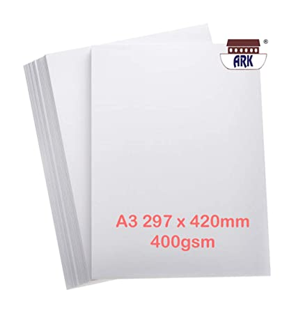 Tarjeta blanca A3 de 400 g/m² (Visión superior) 50 hojas ...