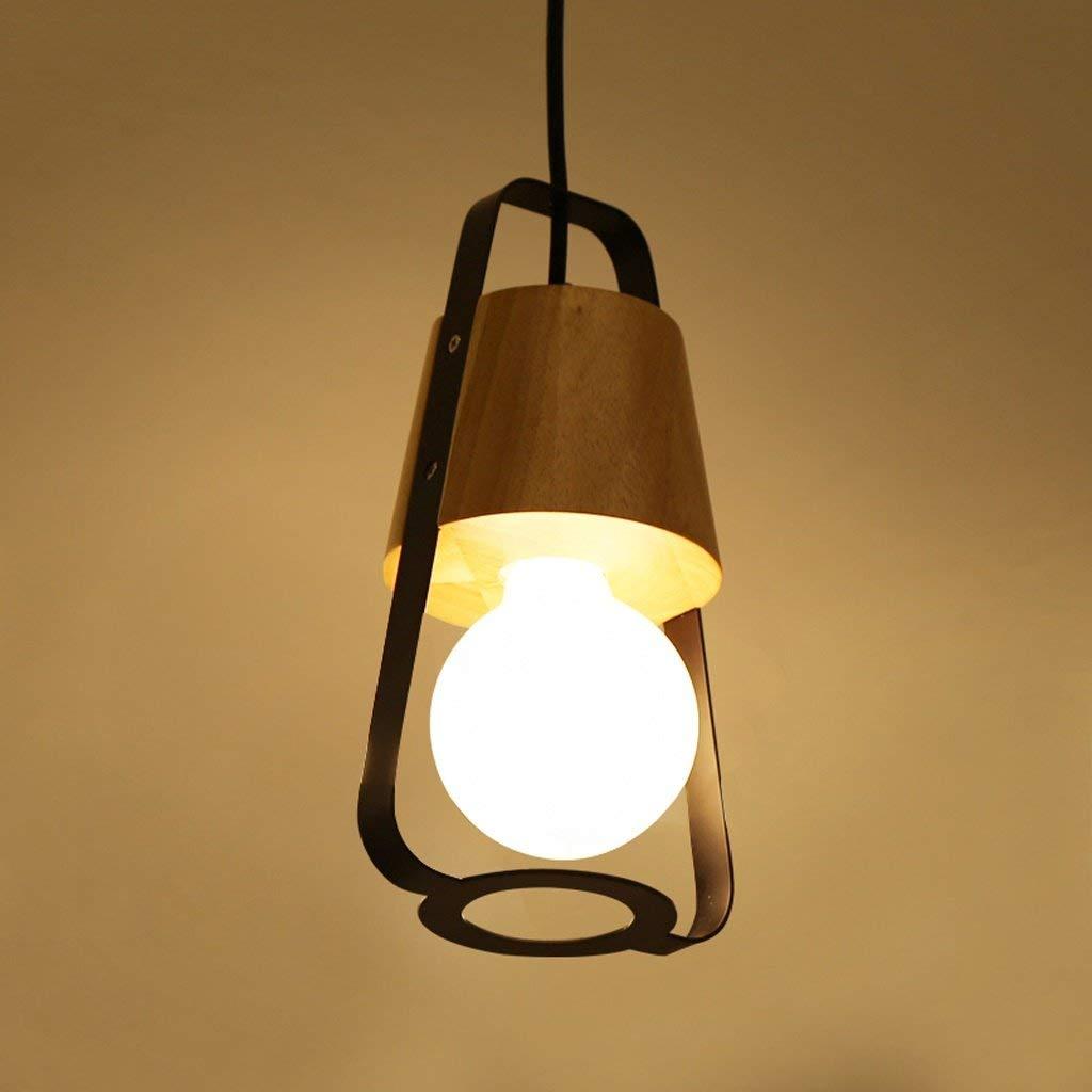 Einfaches Restaurant Kugel Kronleuchter Kreative Rundholz Restaurant Massivholz Lampen Led-Leuchten