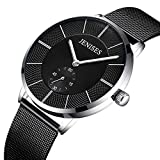 This is a very simple black mesh belt watch for all occasions.Its design is simple, not too complicated, the overall black-based, looks simple and elegant, ultra-thin case, lightweight.See the time at a glance and wear comfortably.Features:* Mesh str...