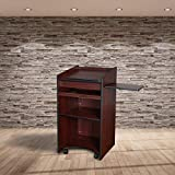 OEF Furnishings Mobile Floor Lectern with Side