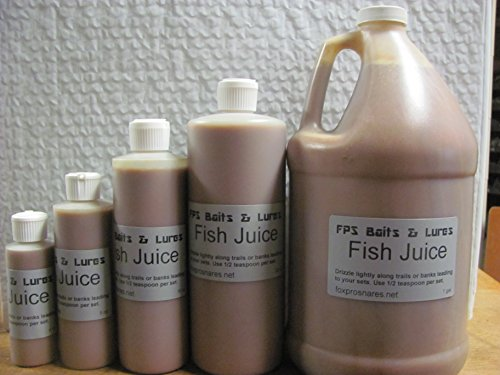 Bait Traps Trapping (FPS Baits & Lures (Fish Juice) Furbearers Trapping Trap Snares CHOICE (4 oz.))