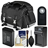 Canon 200DG Digital SLR Camera Case - Gadget Bag with LP-E17 Battery & Charger + Remote + Cleaning Kit for Rebel T6s, T6i, T7i, EOS 77D