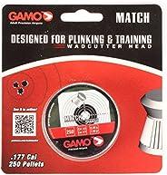 Gamo 6320024BL54 Match Pellets (Flat Nose) .177 Cal. Tins of 250 - Blister Silver