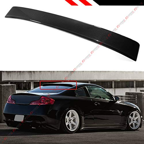 (Cuztom Tuning for 2003-2007 Infiniti G35 2 Door Coupe JDM Real Carbon Fiber Rear Window ROOF TOP Spoiler Wing)