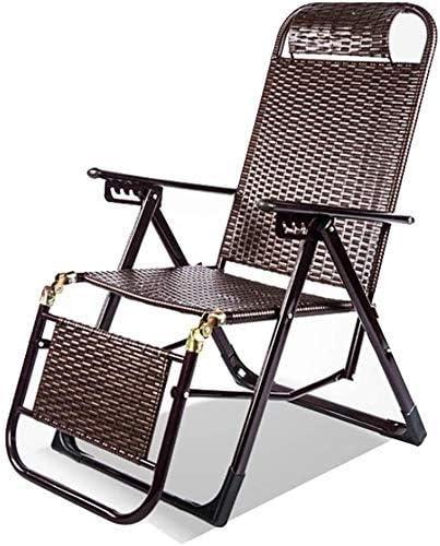 Yuany - Sillón reclinable Chairs, silla reclinable al aire libre, mecedora de jardín para exteriores, silla de relax, cojines reclinables, playa para tomar el sol: Amazon.es: Hogar