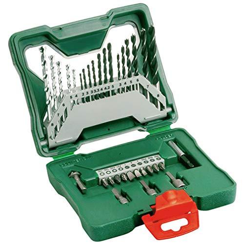 ZYX 33PCS Power Tool Accessories, Twist Drill, Set Impact Drill, Metal Masonry Woodworking Drill Bit Screwdriver Hex Socket, Multi Purpose Multi Purpose -