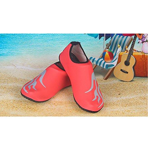 Sibba Unisex Op Blote Voeten Water Huid Aqua Schoenen Sneldrogend Strand Zwemmen Surf Yoga Oefening Schoenen Voor Vrouwen Mannen En Kinderen Oranje