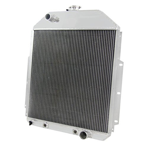OzCoolingParts 42-52 Ford F Series Radiator, 4 Row Core All Aluminum Radiator for 1942-1952 43 44 45 46 47 48 49 50 51 Ford F1 F2 F3 F4 Pickup Truck, Ford 1/2 Ton Pickup 3/4 Ton Pickup, V8 Engine ()