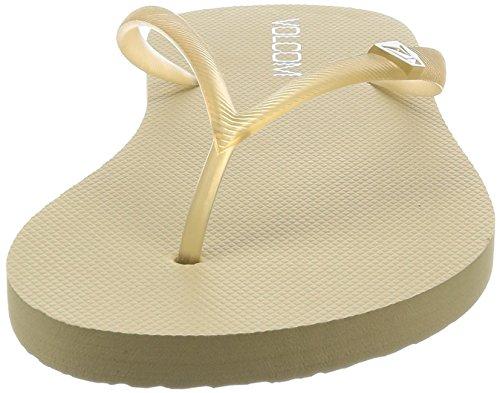Rocking Women's Natural Solid Flop Volcom Flip Sandal 5Ax8H8aq