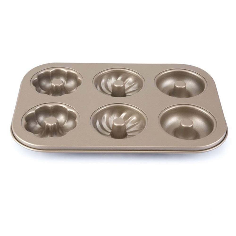 Chenteshangmao Kitchen Home Baking Tools, Cookie Cake Bread Chocolate Ideas Not Easy To Get Rid Of Mold, Gold Carbon Steel (26.5 X 18.5 X 2.5cm) Characteristic mold