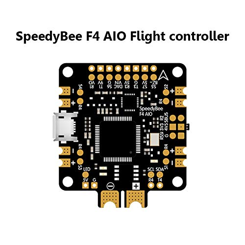 Crazepony Flight Controller SpeedyBee F4 AIO Flight Controller Betaflight Integrated OSD PDB LC Filter for FPV RC Drone Quadcopter, Setting FC Parameters via Mobile Device from Crazepony
