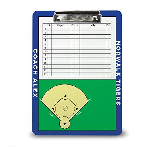 (Personalized Baseball Coach Board | Dry Erase Coach Clipboard by ChalkTalk Sports |)