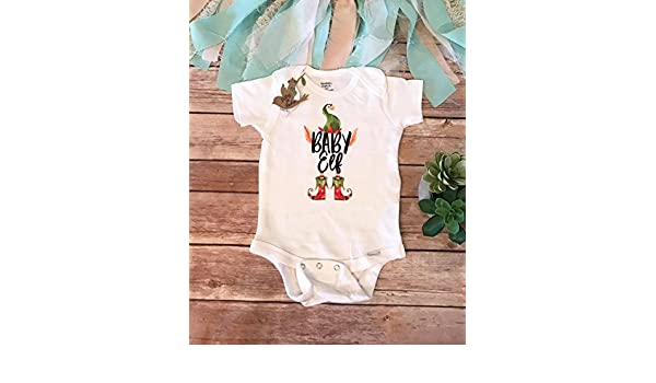 71bfb3f42 Amazon.com: Funny Christmas Onesies®, Baby Elf Onesie, Christmas Baby  Bodysuit, Christmas Baby Outfit, Matching Elf Shirts, Baby Elf Bodysuit,  Romper: ...