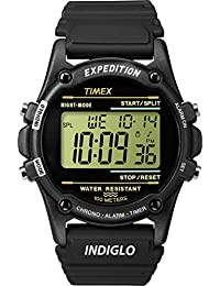 Timex Mens T5K463GP Expedition Black Resin Strap Digital Dial Watch