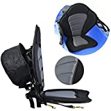 Padded Kayak Seat and Backrest Canoe Boat Seat w/Detachable Seat Bag