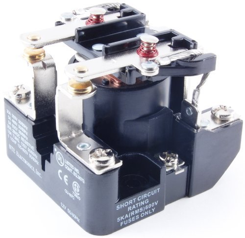 NTE Electronics R04-7A30-120 Series R4 General Purpose Multicontact AC Open Frame Relay, Heavy Duty, DPST-NO Contact Arrangement, 30 Amp, 240 VAC