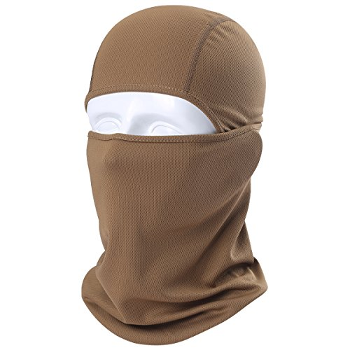 WTACTFUL 1 Pack - Balaclava UV Protection Windproof Breathable Face Mask - Cycling Hiking Motorcycle Riding Racing Hunting Climbing Camping Tactical Ski Snowboard Mask for Men Women Brown