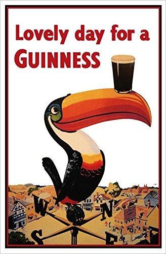 Buyartforless Guinness Beer Lovely Day Toucan on Weather-Vane 18x12 Advertising Art Print Poster Irish Stout Brew - Guinness Stout Beer