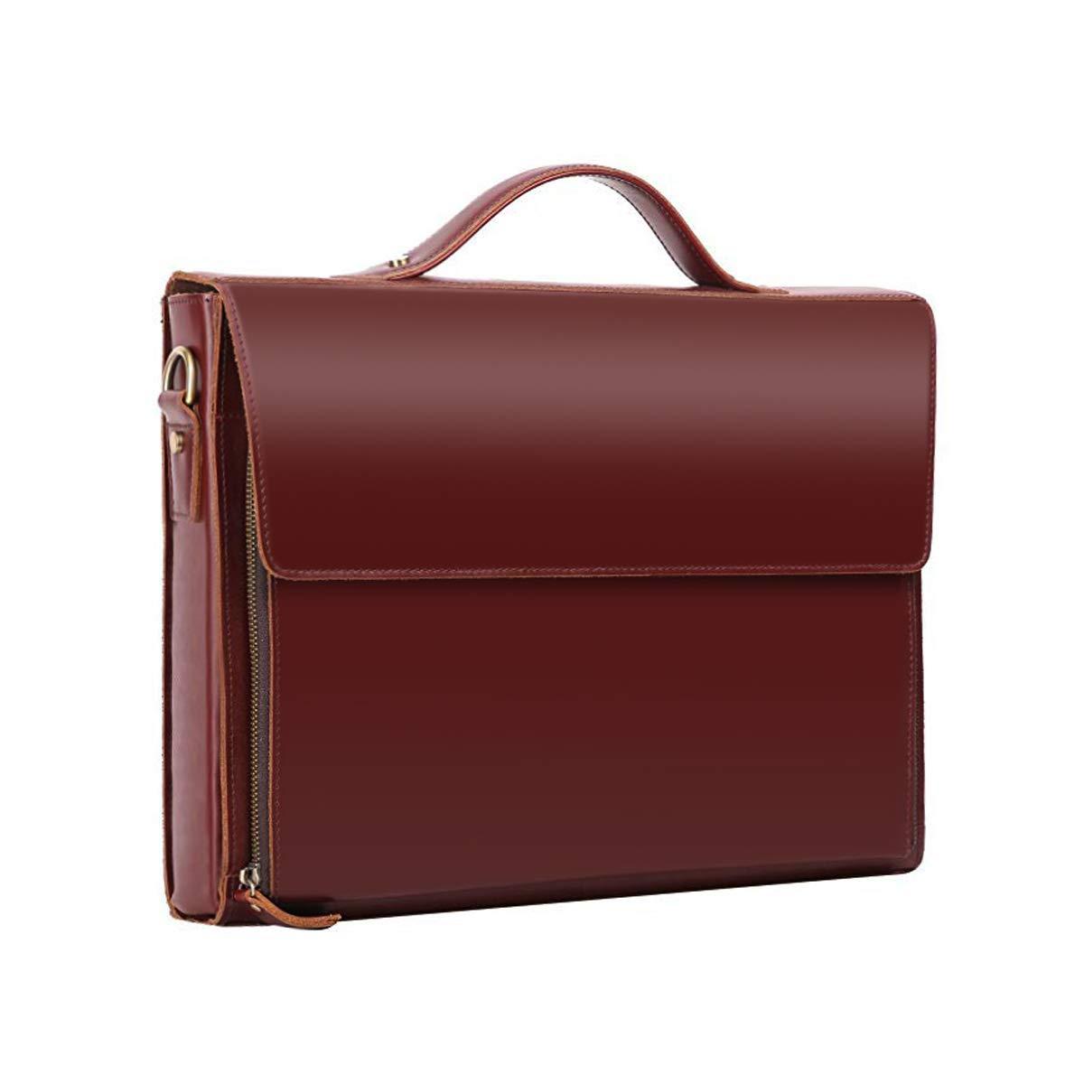 e82e7fb3dd64 Amazon.com: Leathario Leather Briefcase for Men Leather Laptop Bag Shoulder  Messenger Bag Business Work Bag: Leathario