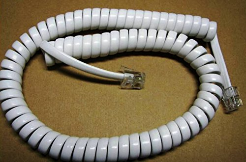 Bright White Short (9' Ft) Handset Phone Cord for GE Thomson Pro Series 29195GE1 29253GE1 26936GE1 26958GE1 27958 27958GE1 27958GE1 29280GE1 29318GE1 29369GE1 29385GE1 29480GE1 DIY-BizPhones - 29480ge1 2 Line