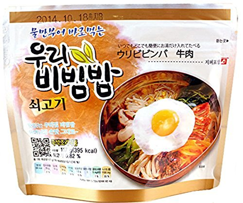 Price comparison product image Woori's Ready to Eat Bibimbap Korean Mixed Rice Bowl100g (3.53oz) 335 Kcal - (BEEF,  2 PACK)