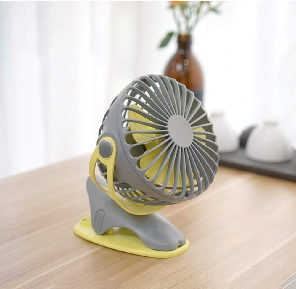 High quality Stroller Fan Clip on Portable Fan 150 Small Desk Fan with Rechargeable Battery Powered Fan, Stepless Speeds, Clip on Stroller Fan Battery Operated - Portable