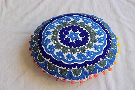 HANDICRAFTOFPINKCITY 40,64 cm Tamaño de Suzani bordado Cojín ...