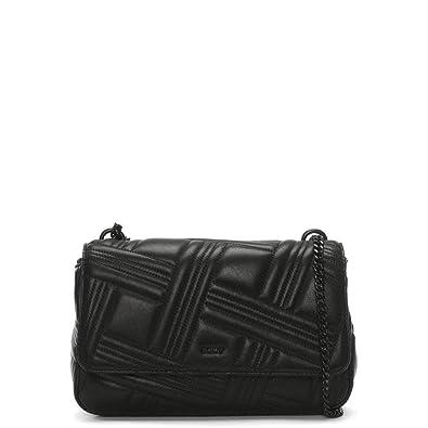 DKNY Allen Black Leather Quilted Shoulder Bag Black Leather  Amazon.co.uk   Clothing 54ee38e129ee8