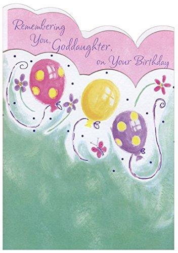 ple Balloons Die Cut: Goddaughter - Designer Greetings Birthday Card ()