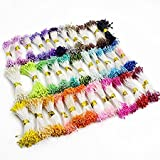 900pcs/lot(90pcs x 10 colors) Multicolor DIY pearl flower stamen pistil 1mm floral stamen (Mixed colors 3)
