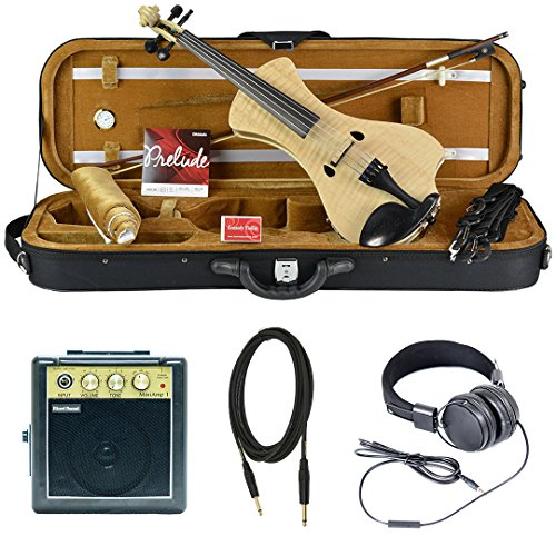 Bunnel NEXT Electric Violin Outfit Natural Flame Amp Included by Kennedy Violins