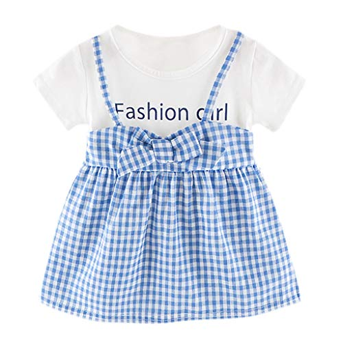 Kids Girls Sequined Wedding Dresses Bridesmaid Formal Gown,Girl Sleeveless Knee-Length Floral Casual Party Dresses,Kid' Flower Print Soft Sleeveless Summer Tea Party Dresses Blue
