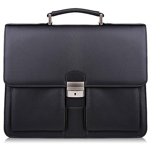 S ZONE Microfiber Flapover Briefcase Messenger