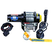 Superwinch 1140220 LT4000ATV 12 VDC Winch 4, 000lbs/1814kg Single Line Pull with Roller Fairlead, Handlebar Mount Toggle, and Handheld Remote