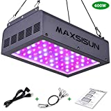 MAXSISUN 600W LED Grow Light, Full Spectrum IR for Indoor Horticulture Greenhouse Hydroponic Plants Veg and Bloom (60pcs Dual Chips 10W LEDs)