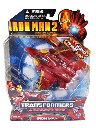 Marvel Year 2010 Transformers Crossovers 6 Inch Tall Action Figure - Iron Man with 2 Missile Launchers and 2 Missiles