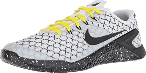 (NIKE Men's Metcon 4 X White/Black-Dynamic Yellow 11.0)