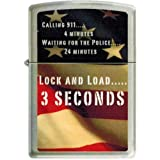 Zippo Lock and Load 3 Seconds Second Amendment Rights Custom Lighter New Release