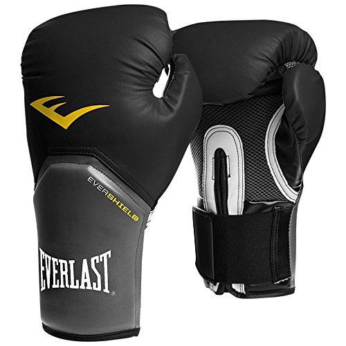 Everlast Men's Pro Style Elite Training Boxing Gloves-Black, 12 oz