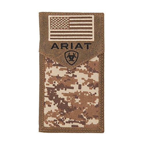 Ariat Unisex-Adult's Patriot Digital Camo Rodeo Wallet, Brown