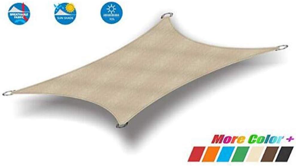 Toldo rectangular GuoWei, impermeable, para exteriores, balcón, jardín, toldo, toldo, personalizable, A, 4.0x4.0m