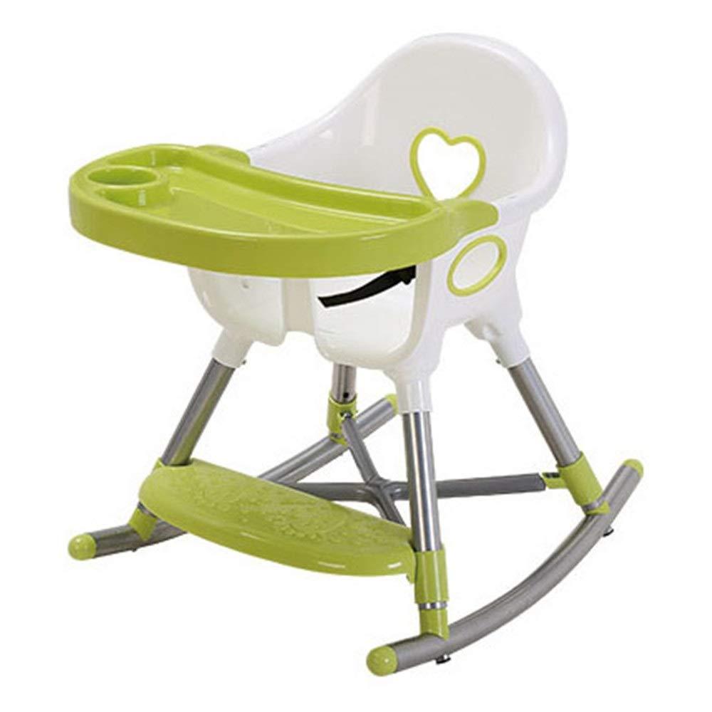 子供用テーブルと椅子 取り外し可能な皿旅行ブースターの座席供給の椅子が付いているかわいい赤ん坊の高い椅子の赤ん坊の折り畳み式の高い椅子 (色 : 緑, サイズ : 48*60*61cm) 48*60*61cm 緑 B07SGJ5Q46