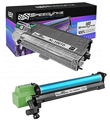 Speedy Inks Compatible Toner & Drum Set Replacement for Sharp AL-100TD and AL-100DR (1 Toner, 1 Drum, 2-Pack)