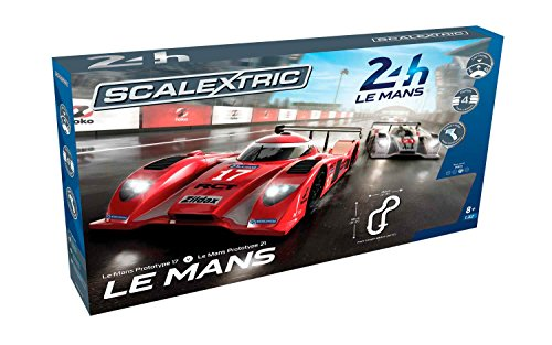 Scalextric Le Mans 24hr 1:32 Slot Car Race Track (Slot Car Track Lap Counter)